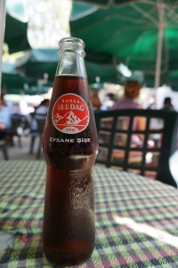 A bottle of locally produced cola