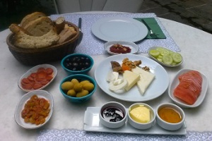 A typical Turkish breakfast