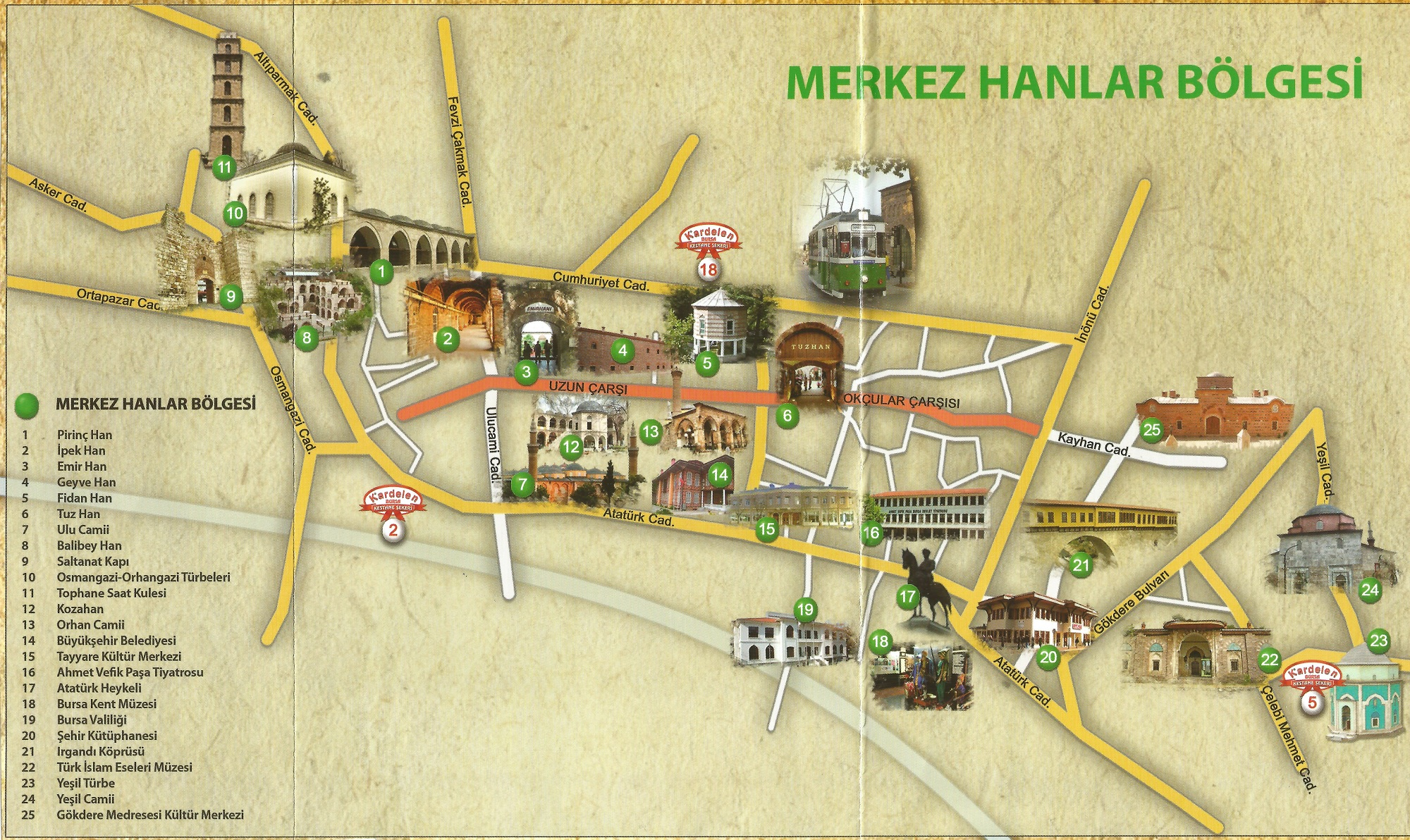Bursa Center Map